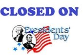 Presidents' Day Closure