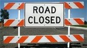 Railroad Ave Closed