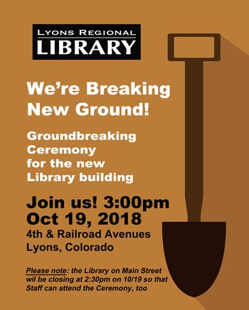 Lyons Regional Library Groundbreaking