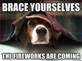The fireworks are coming