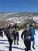 Runners with Old Man Winter Rally