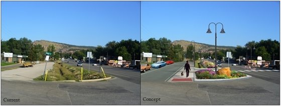 Main St. Streetscape: Before & Concept