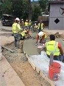 Pouring Curb & Gutter