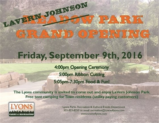 LaVern Johnson Park Local Opening