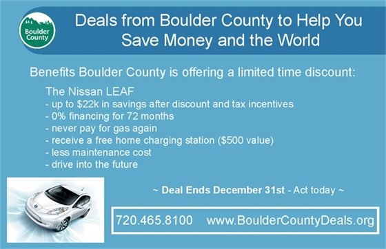 Boulder County Electric Vehicle Discount