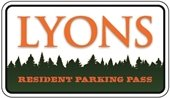 Lyons Parking Pass