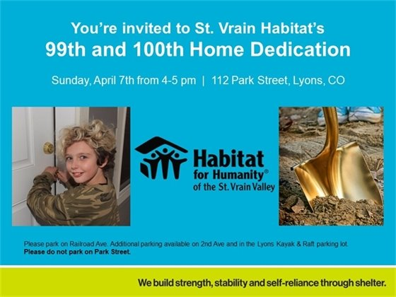Habitat for Humanity's 99 & 100 Homes Dedication