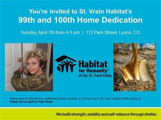 Habitat for Humanity Home Dedication