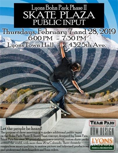 Bohn Park Skate Plaza Public Input Meetings