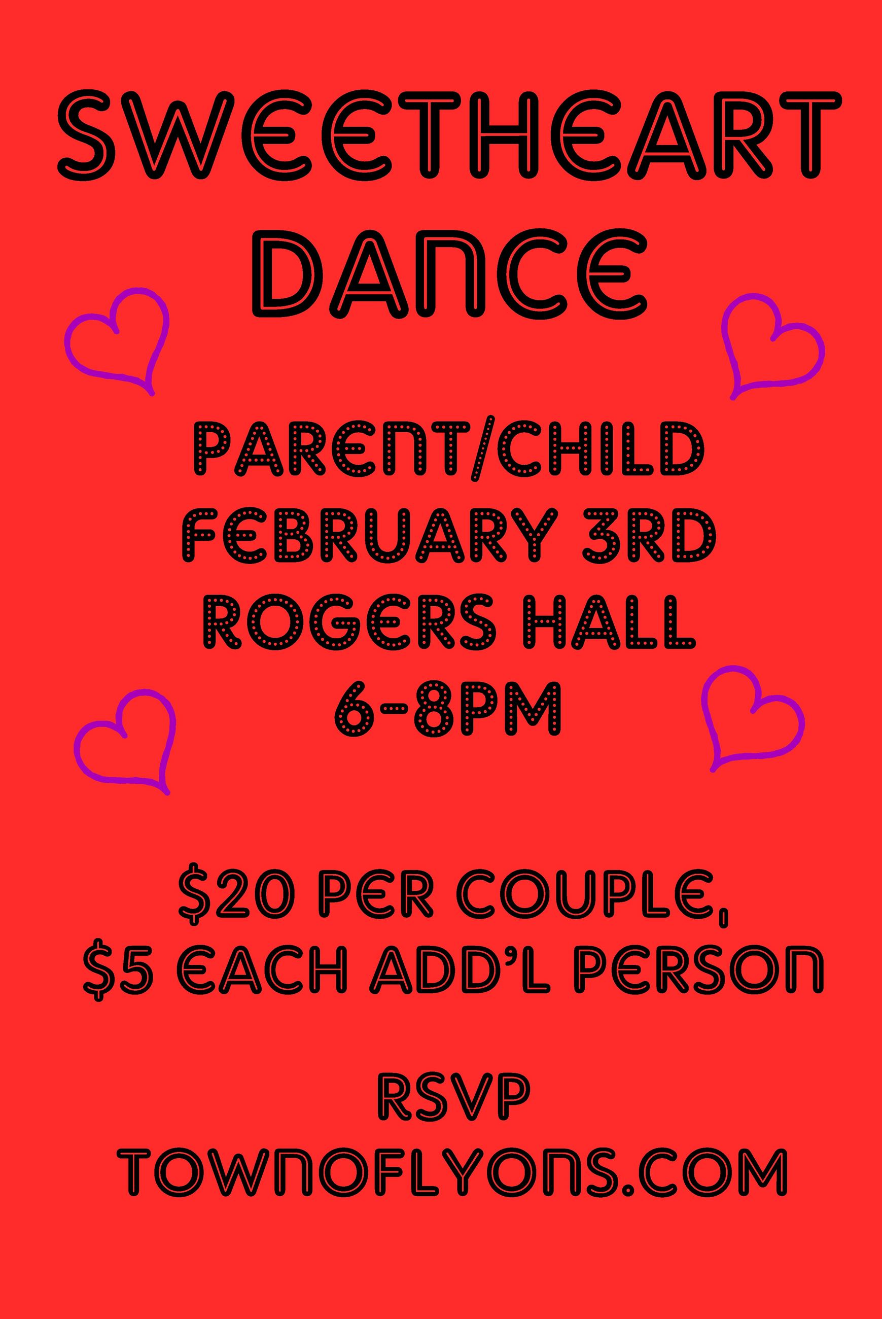 2018 Sweetheart Dance - Parent/Child