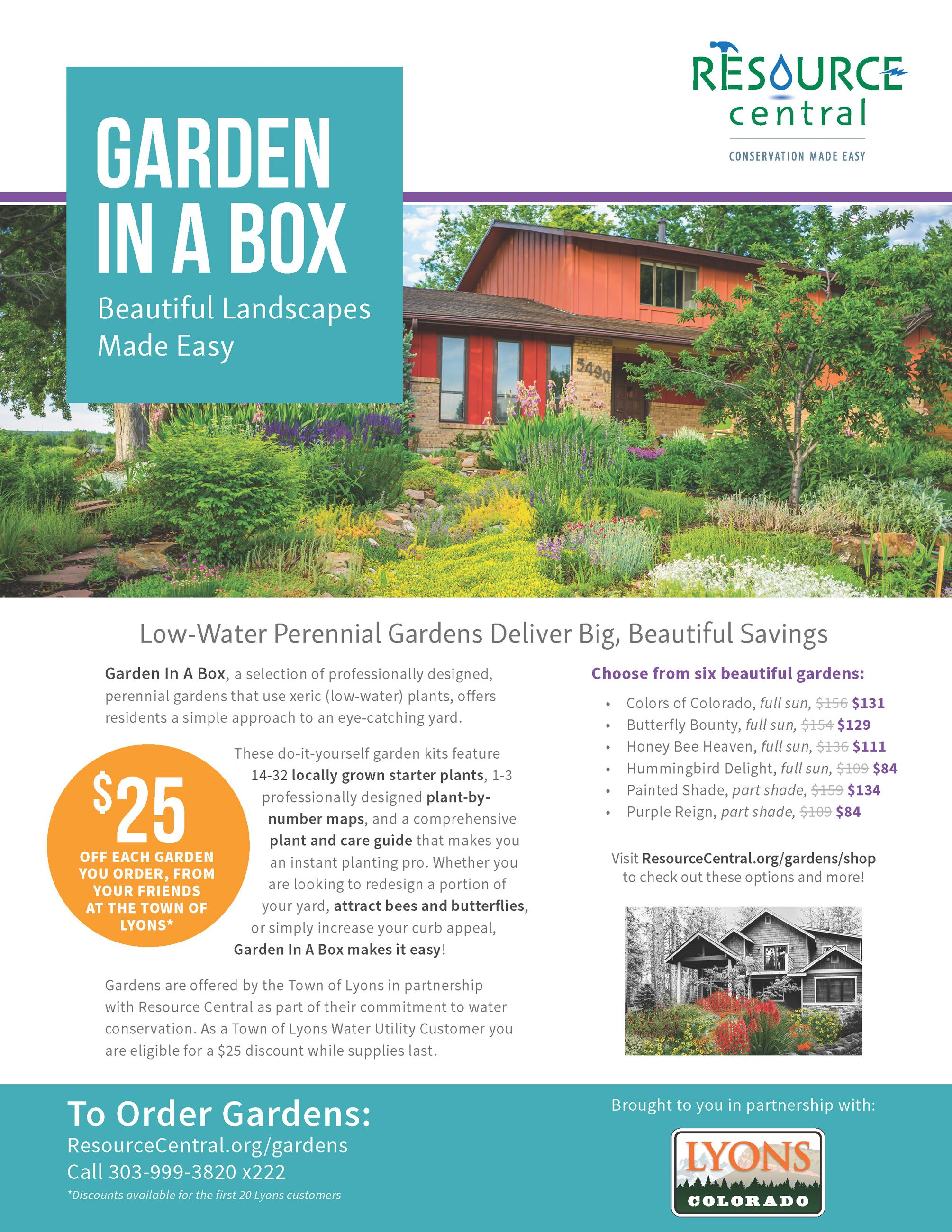 Garden in a Box Lyons Flyer