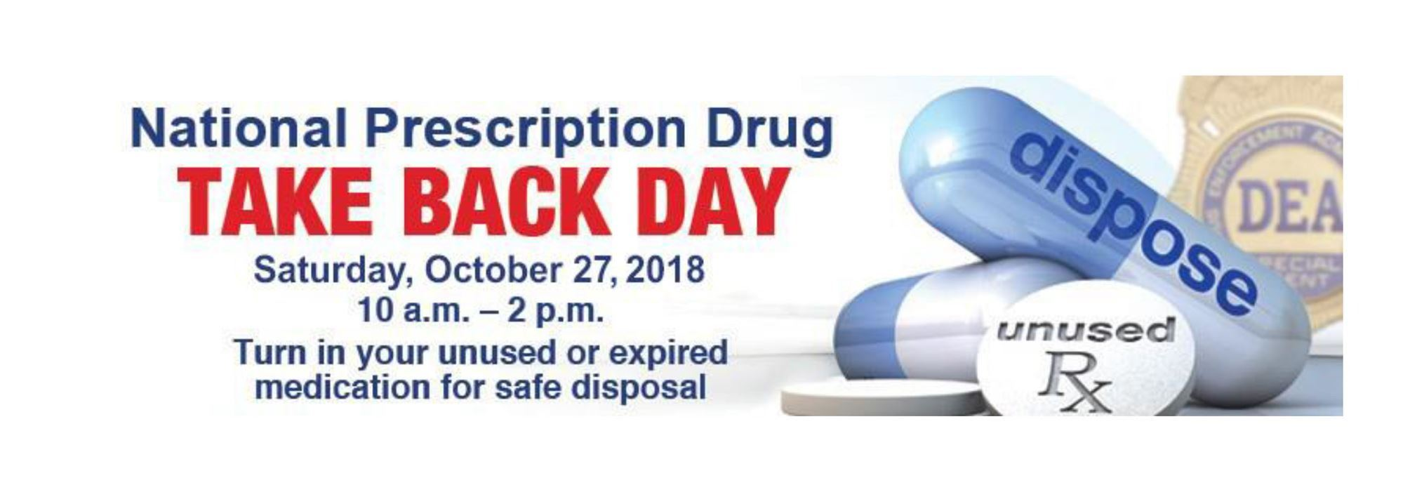 national drug take back Oct 27 2018