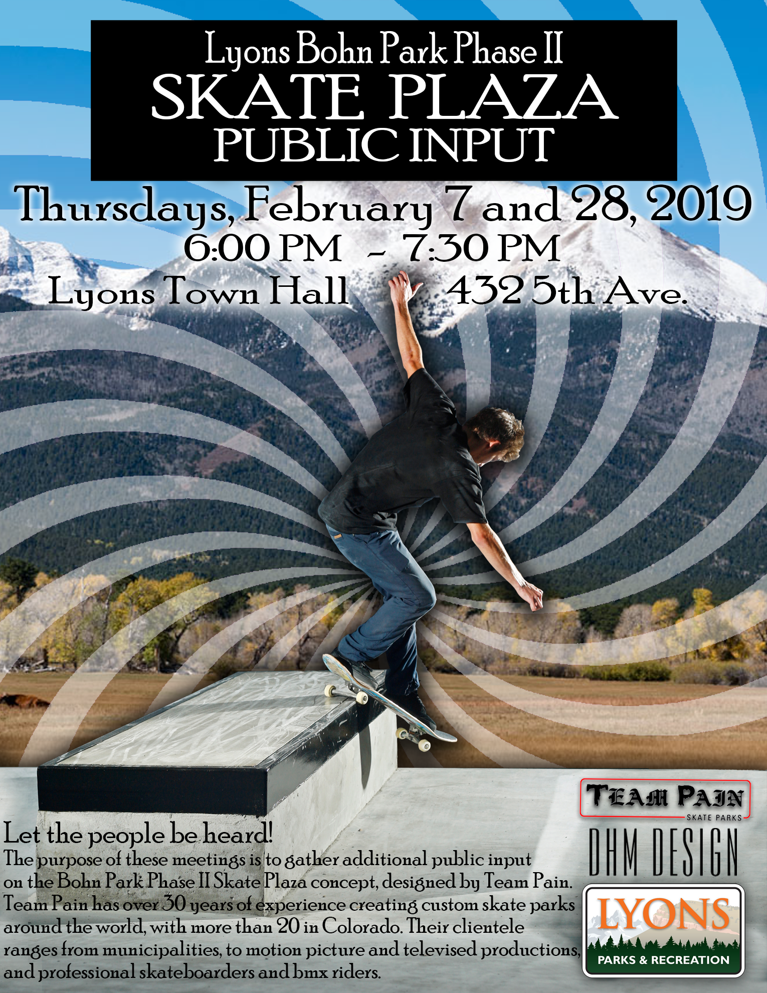 Skate Plaza Public Input Meetings