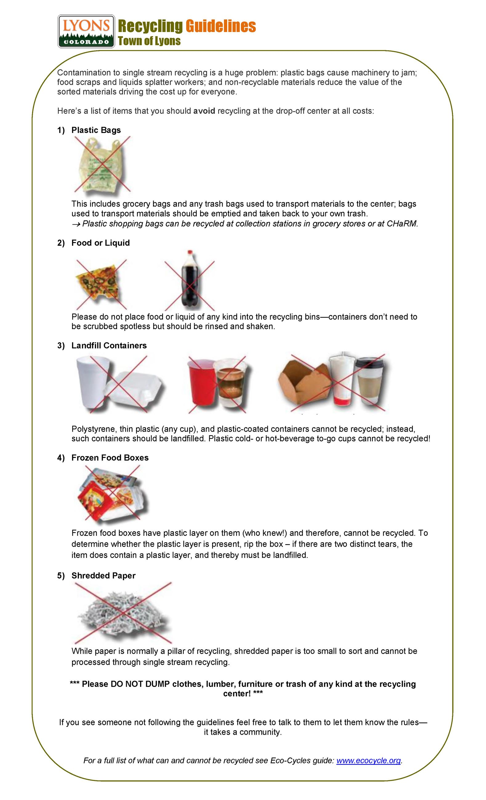 Recycling Guidelines