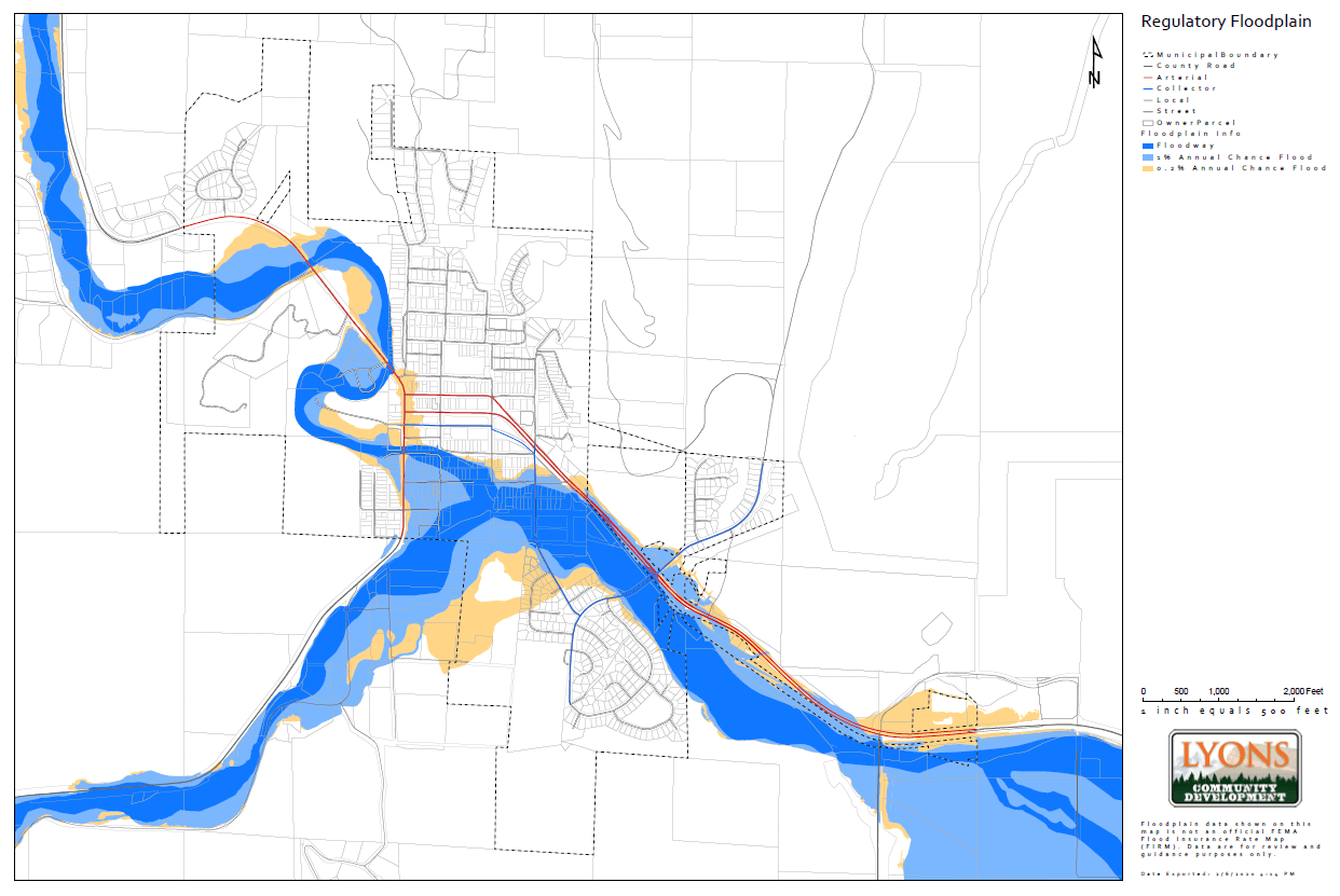 Town of Lyons Regulatory Flood Map 4