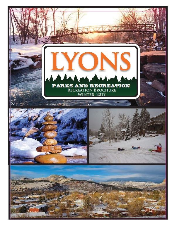 front cover winter recreation brochure 2017