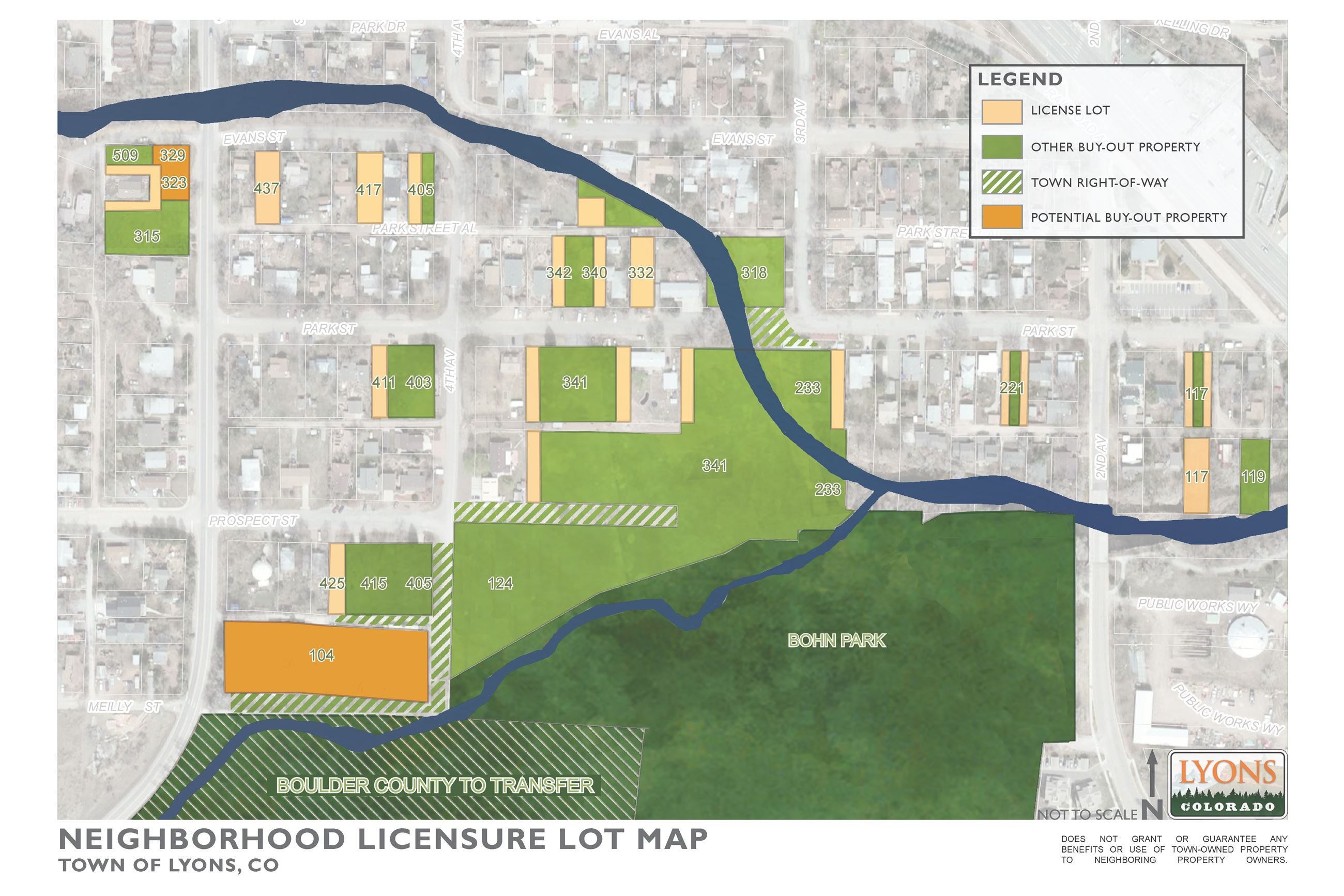 Small Lot Neighborhood Licensure Map