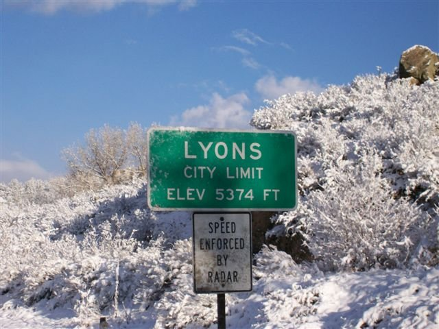 Lyons City Limit Sign