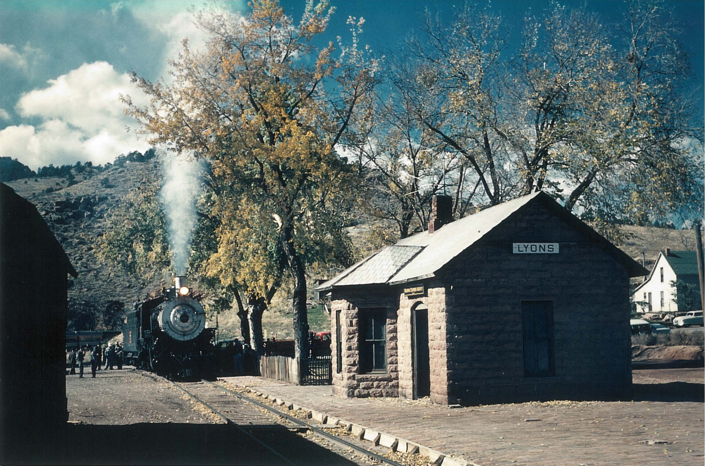 Train at Depot, photo by Richard Lind est. 1962.jpg